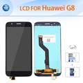 "Original pantalla lcd táctil digitalizador asamblea de cristal para huawei g8 lcd reparación 5.5 ""herramientas de regalo de oro blanco negro + película"