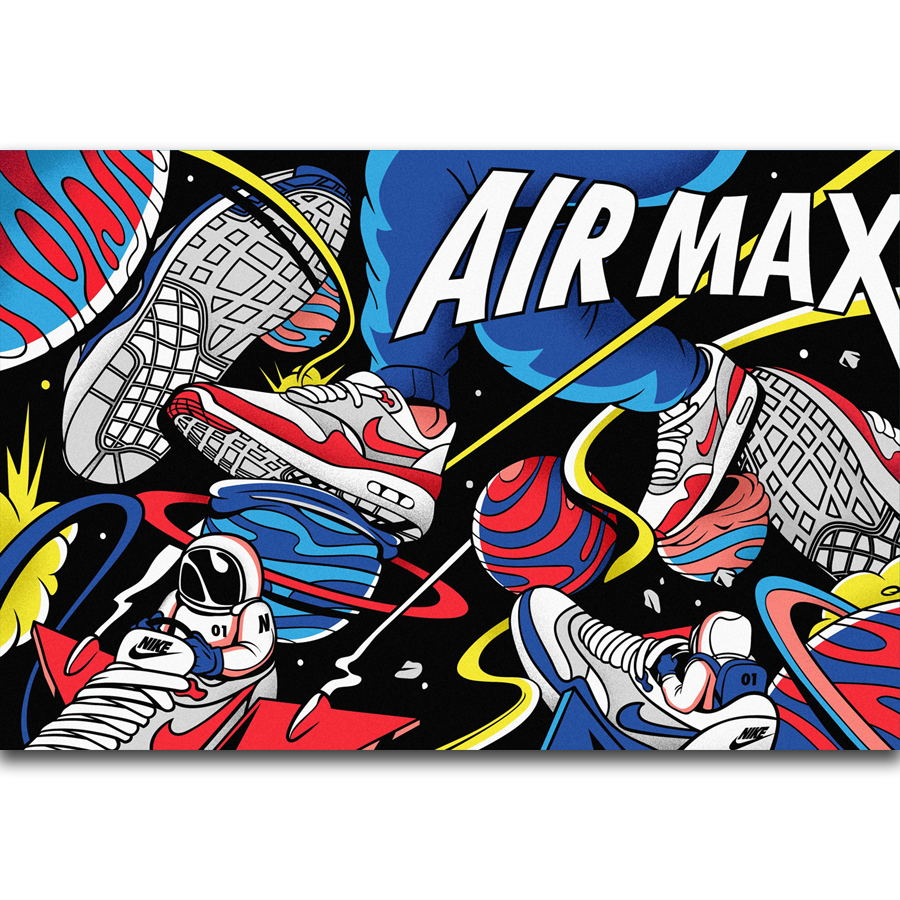 dcc2ef97718dbe S2808 Air Max 30 Anniversary Shoes Sneaker Fashion Wall Art Painting Print  On Silk Canvas Poster Home Decoration