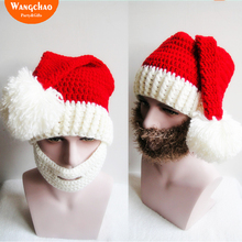 Christmas Hat Funny Santa Claus Mustache Adult Decoration Cosplay Free Shipping Merry Gift Deals