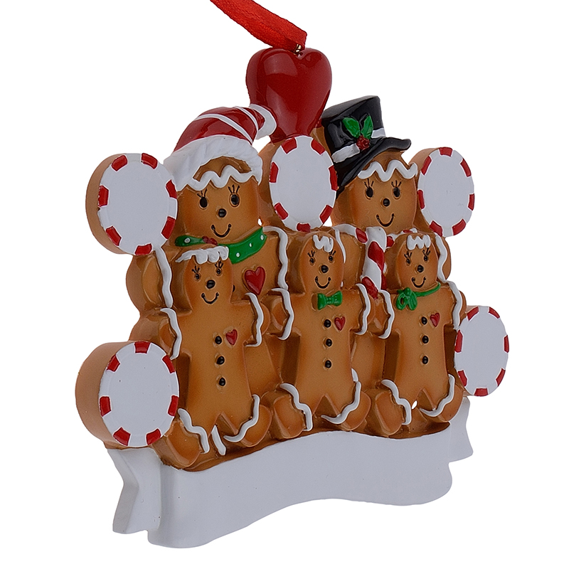 Maxora Gingerbread Family Of 5 Resin Hand Painting Christmas