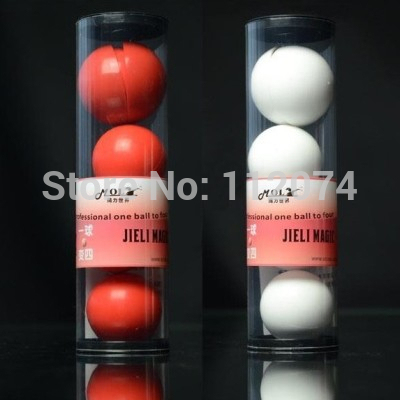 Deluxe Multiplying Balls / White or Red (43mm) /one to four ball magic,ball magic, props,comedy,close up magic