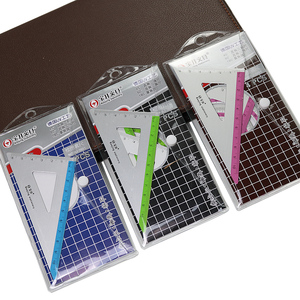 new 4pcs/set UV aluminum alloy ruler Drawing Measurement Geometry Triangle ruler straightedge Protractor A variety of rulers