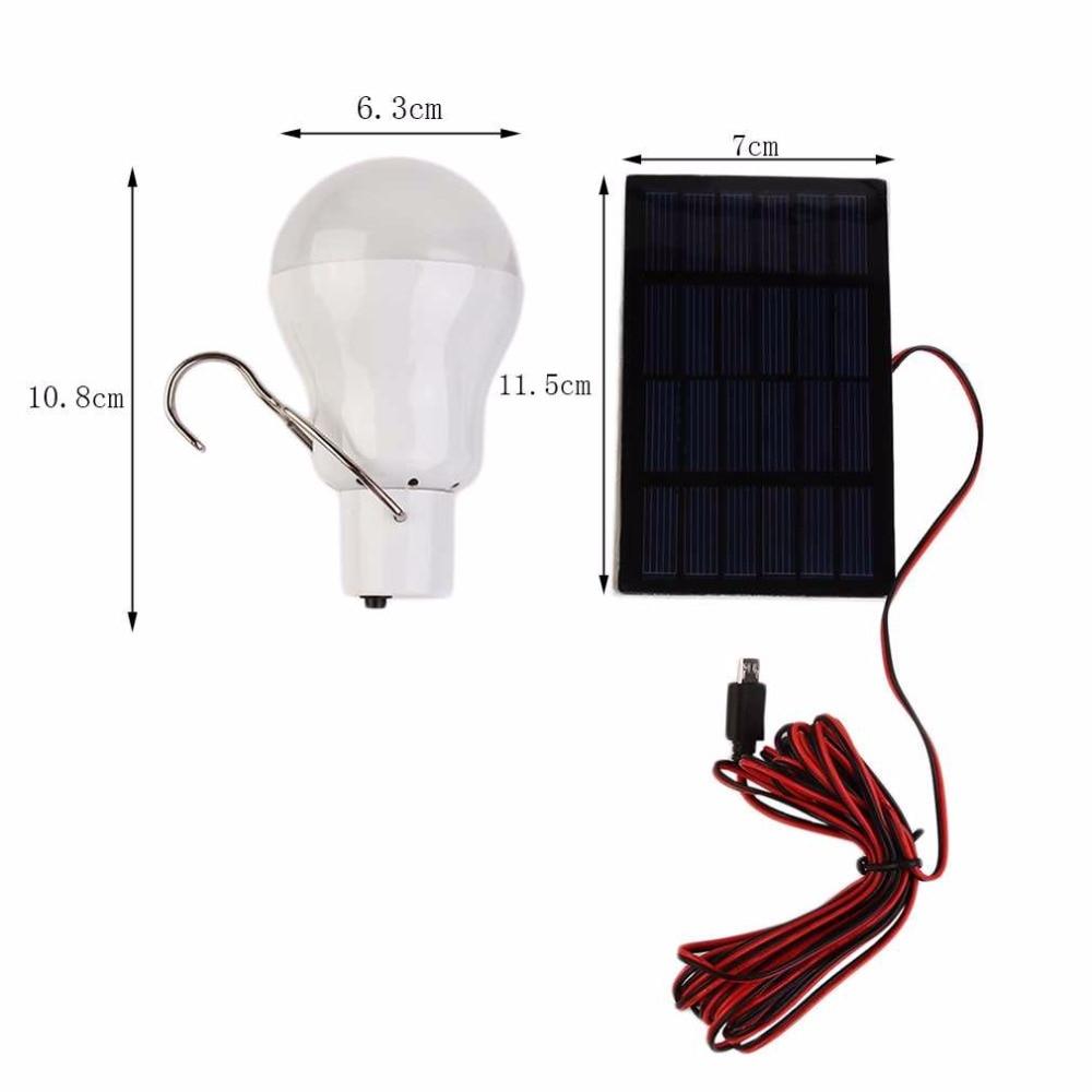 Lâmpadas Solares pesca de energia luz Lamp Dimension : 108 x 63 Mm(h x d)