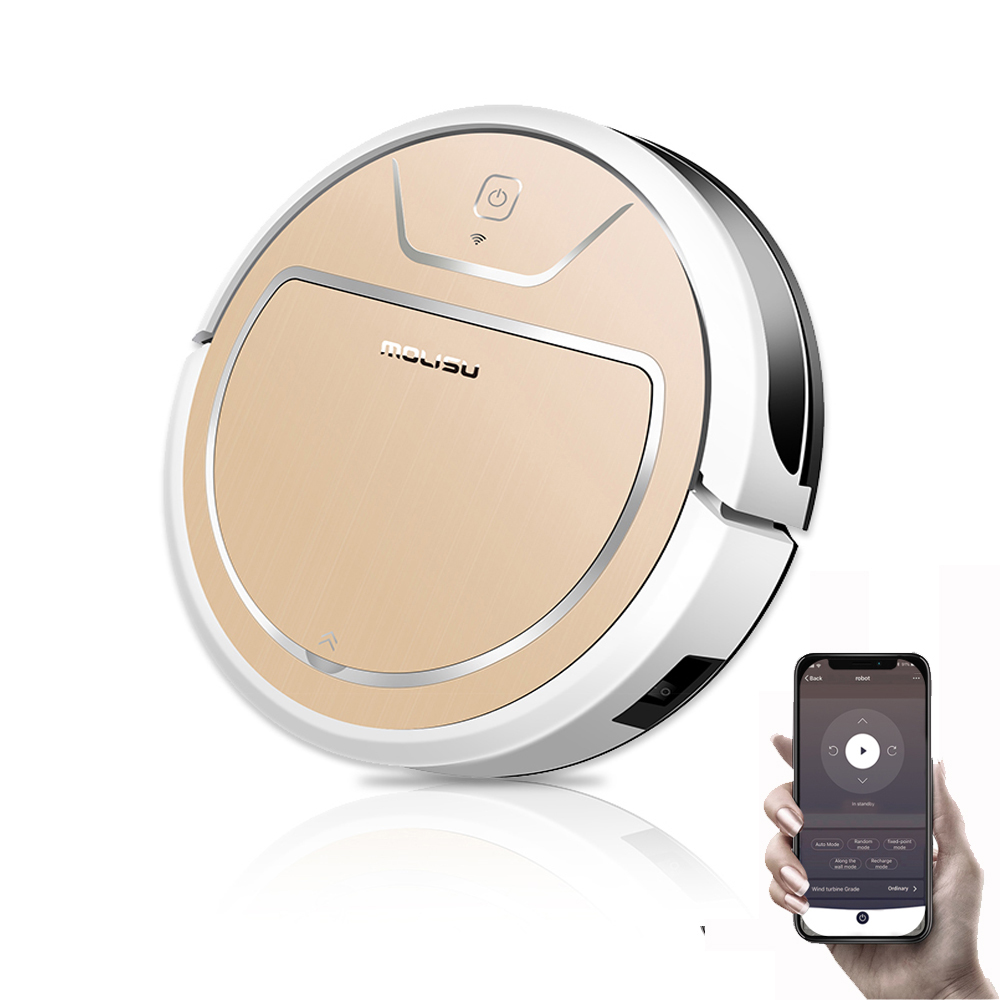 MOLISU V8S PRO Robot Vacuum Cleaner With App Control Wet And Dry Sweeping And Mopping 2000pa Suction Autocharge Robot Aspirador