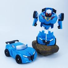 Cartoon transformer toy robot car cool brother treasure deformation portfolio manually educational training