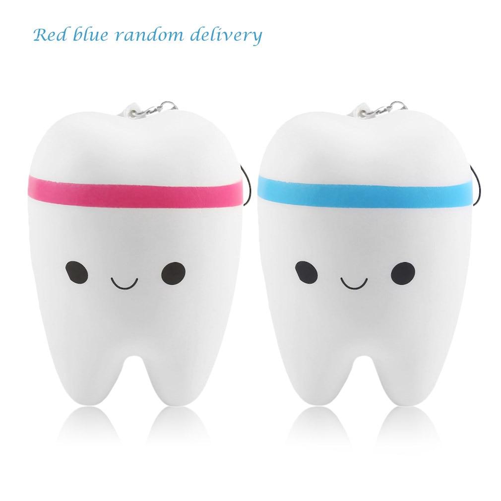 Hot! OCDAY 11.6cm Upscale Jumbo Squishy Kawai Fun Adorable Teeth Soft Slow Rising Jumbo Squeeze Cell Phone Strap Stuffed Toy