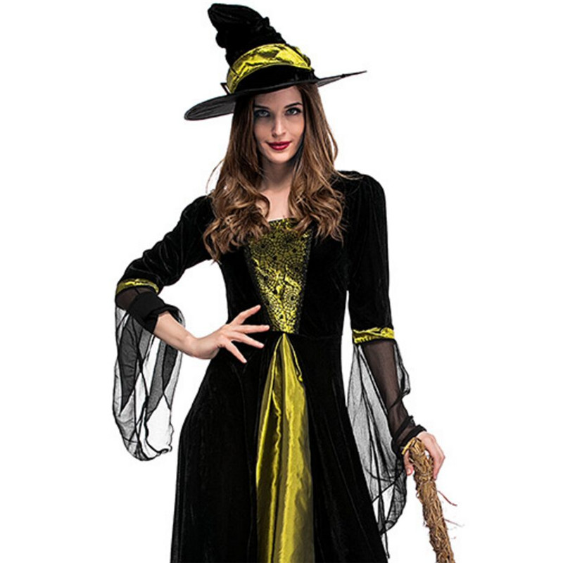 high quality Witch Dress Party Masquerade Carnival clothing Fantasia Infantil Adult Fairy Costumes Cosplay Costume Halloween