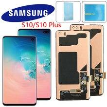 Orijinal Lcd için çerçeve ile SAMSUNG Galaxy S10e S10 Lcd ekran G9730 ekran S10 + artı Lcd G9750 dokunmatik ekran digitizer