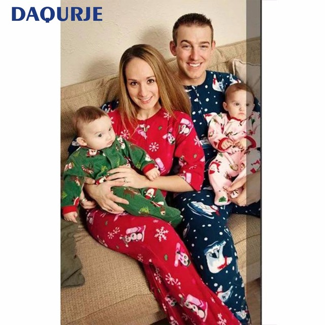 293ed721484c Family Christmas Pajamas Sets Family Look Mother   Kids Son Baby ...