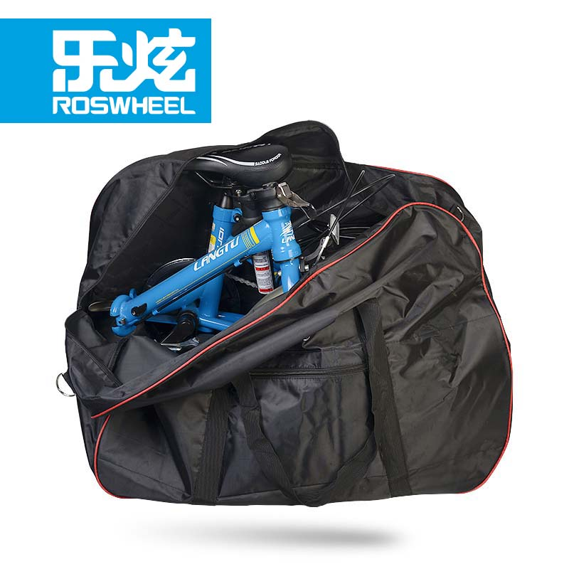 ROSWHEEL Bike Bag High Quality 420D Polyester Folding Loading Bicycle Bag Package Cycling Bag Panniers Baskets Bisiklet Aksesuar mountain bike four perlin disc hubs 32 holes high quality lightweight flexible rotation bicycle hubs bzh002