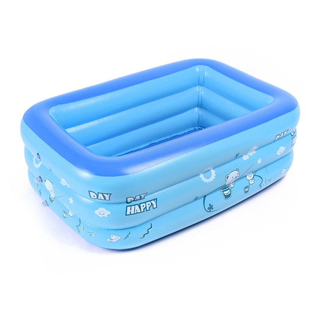 US $29.19 30% OFF Summer Baby Outdoor PVC Cartoon Inflatable Swimming Pool  Square Children Thickened Family Playing Water Pool Kids Holiday Gifts-in  ...