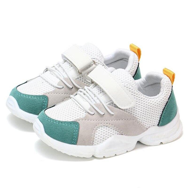 dcb751a6e HaoChengJiaDe Весна новая детская обувь модная детская мягкая подошва из  искусственной кожи спортивные кроссовки детские осенние