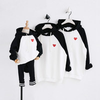 Family Matching Clothes Christmas Sweaters Family Clothes Matching Mother Dad Son Outfits Cotton Embroidered HoodieT Shirt CC479