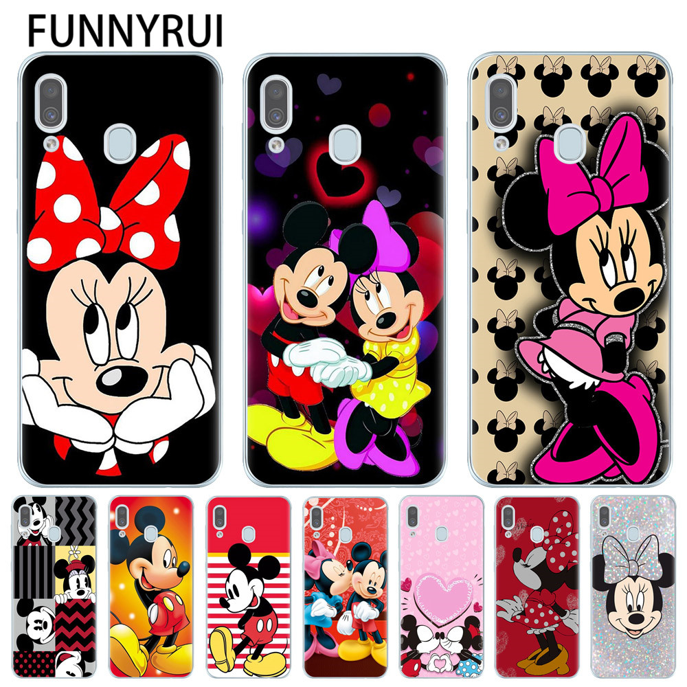 Mickey Minnie Phone Case For <font><b>Samsung</b></font> Galaxy A30 A305F Cover Silicone Soft TPU Case For <font><b>Samsung</b></font> <font><b>A10</b></font> A20 A40 A50 A70 <font><b>Coque</b></font> Fundas image