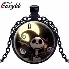 Gaxybb Fashion bronze choker necklace Nightmare Before Christmas Anime Jewelry Steampunk Collar Skull Statement Best Friend