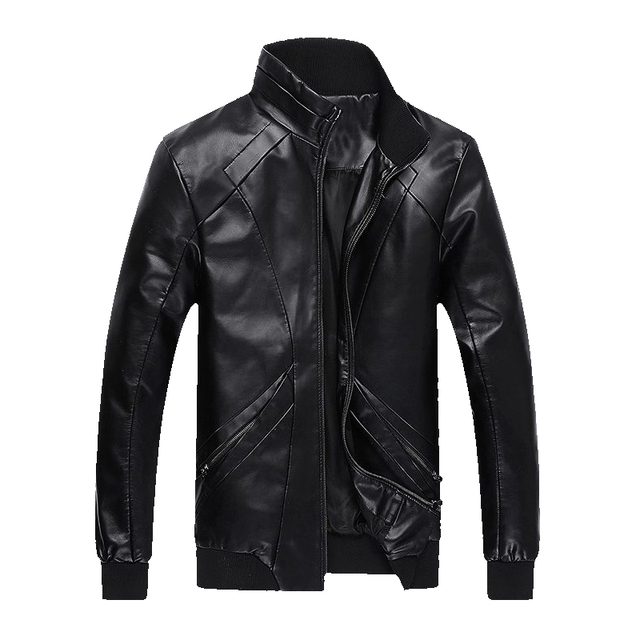 Hot fashion Mens leather jacket. Mens casual jacket motorcycle jacket coat free shipping