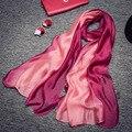 España marca de moda bufanda de seda de las mujeres 2016 Otoño invierno foulard pashmina chales y Bufandas cachecol mantón Suave clásico clásico