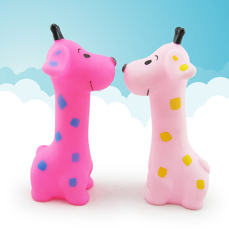 US $1 53 |Baby Bath Toys Soft Rubber Giraffe Animals Car Boat Kids Water  Toys Squeeze Sound Spraying Beach Bathroom Toys For Children-in Bath Toy  from