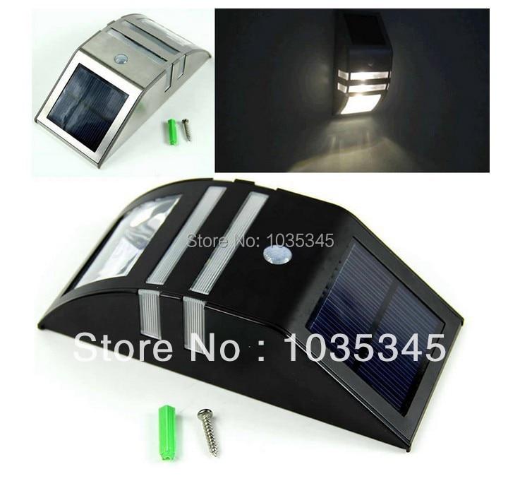 ФОТО Solar Power Motion Sensor Super Bright LED Light Garden Wall PIR Lamp solar light wall light for outdoor use