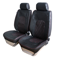 Easy To Install PU Leather Front Car Seat Covers Universal Fit Car Interior Accessories Summer Winter