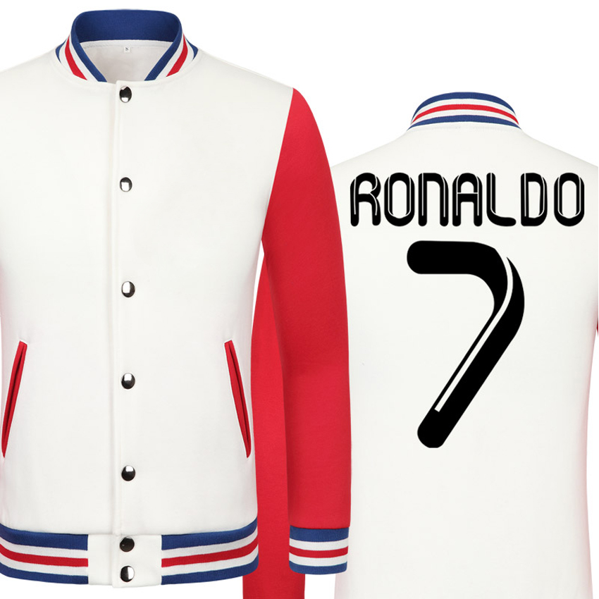 2016 World Cup Cristiano Ronaldo thick velvet baseball uniform mens Jackets camiseta youth jackets barcelonae kids tracksuit