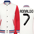 2016 World Cup Cristiano Ronaldo thick velvet baseball uniform men's Jackets camiseta youth jackets barcelonae kids tracksuit