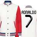 2016 copa del mundo de Cristiano Ronaldo , además de terciopelo grueso uniforme de béisbol chaquetas hombre camiseta jóvenes chaquetas barcelonae niños chándal