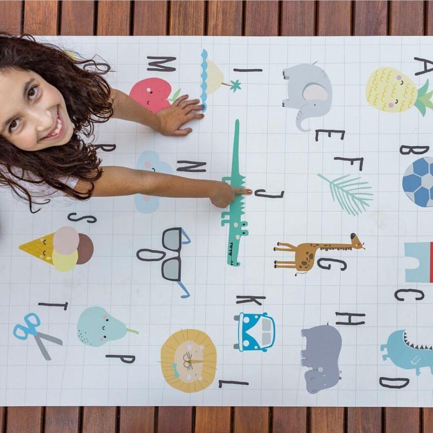 Tapis bébé Tapis Enfant Tapis de jeu bébé Tapis de Gym enfants jeux Tapis activité ramper Tapis animaux lettres chambre décoration accessoires