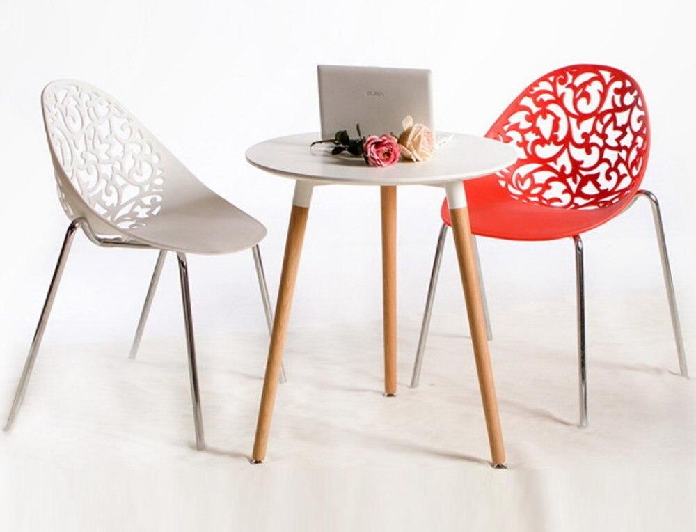 все цены на Modern Design Plastic and steel leg Stackable Dining Chair , popular Classic fashion loft design home chair, Dining Flower Chair