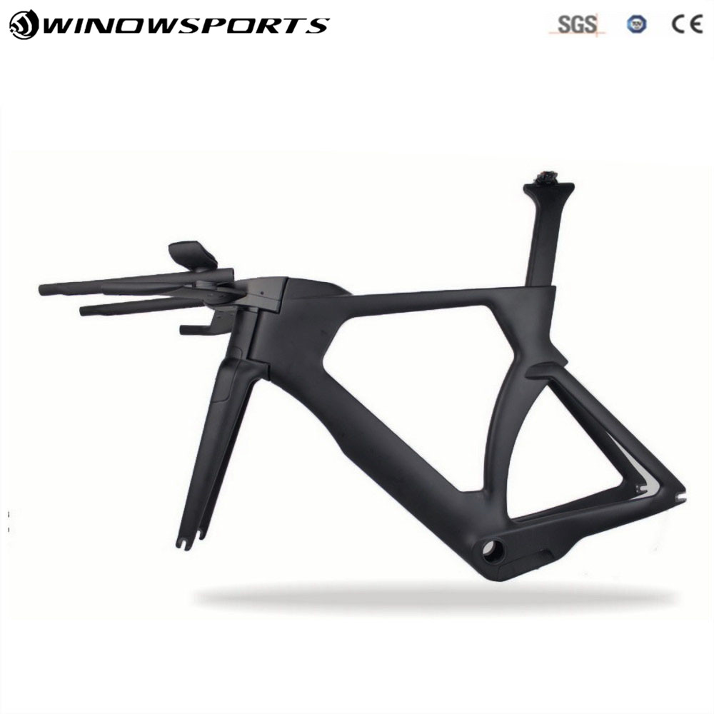 2018 New Aero Carbon Fiber Carbon TT Bike Bicycles Frame Bicycle Aero Track Frameset Glossy/matt цена