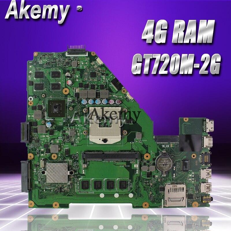 Akemy X550VC Laptop Motherboard For ASUS X550VC R510V X550V X550 Test Original Mainboard 4G RAM GT720M-2G