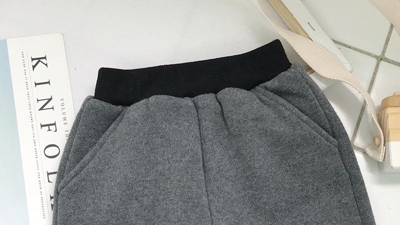 de5140b274a Toddler Boy Pants Plus Velvet Fleece Thicken Warm Pants For Boys ...