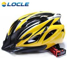 LOCLE Ciclismo Casco moldeadas Integralmente Ultralight Casco de La Bicicleta DEL Camino de MTB Mountain Bike Helmet Casco Ciclismo