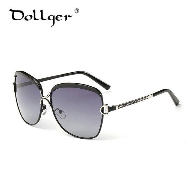 DOLLGER Oversized Sunglasses Women Brand Designer 2016 Polarized UV400 Brown Vintage Luxury Goggles  Sonnenbrille Frauen D04