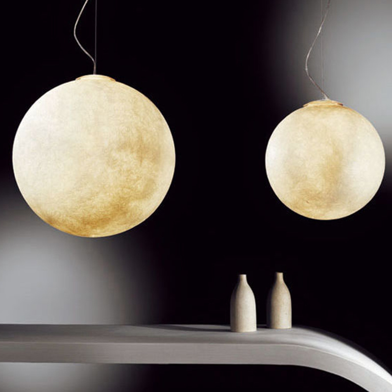 3D Print Hanglampen Nordic Creatieve Maan Lamp Bal hanglamp Restaurant Hars Lampen Nieuwigheid Sfeer Nachtlampje Lamp - 2