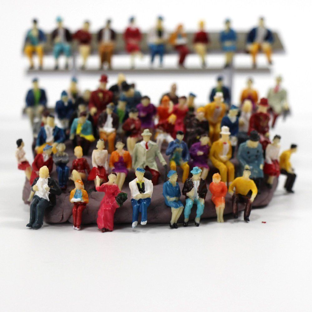 Toys 50 Seats Ratio 1:87 Miniature Doll Model Statue Landscape Can Collect Children's Toys