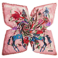 135cm*135cm Thick Warm Winter Women 2016 New Fashion Euro Design Bird Butterfly Flower and Horse Printed Square Scarf Big Shawl