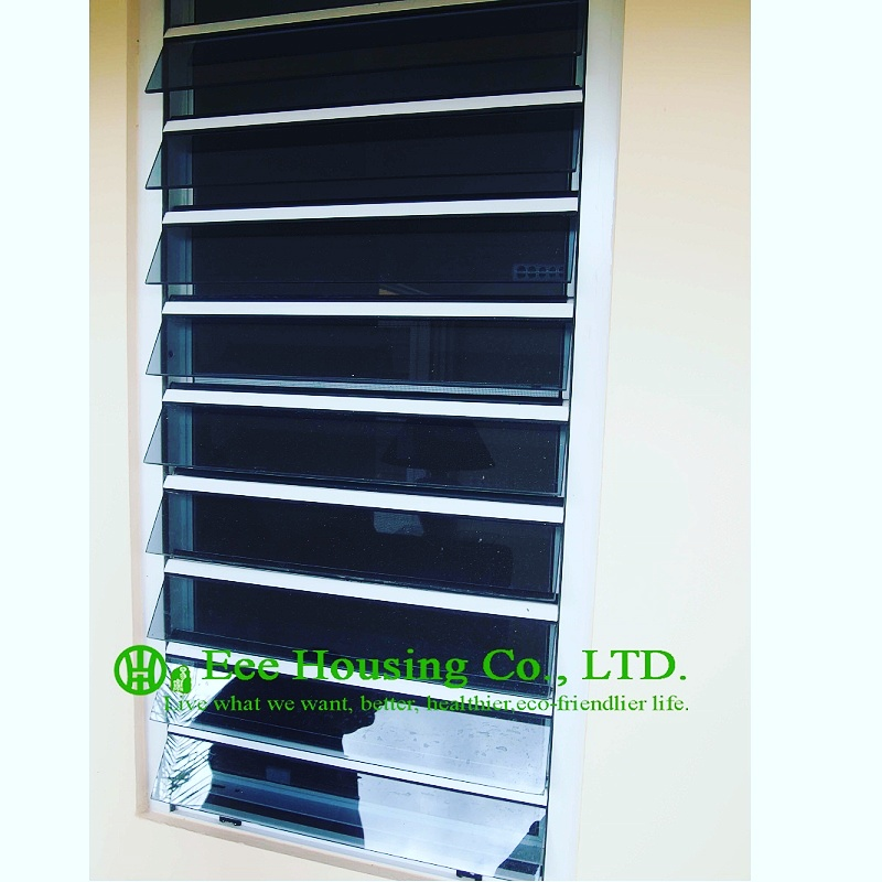 Hurricane-proof Windows, Inbuilt Security Jalousie Windows For Residence Projects, China Window Supplier