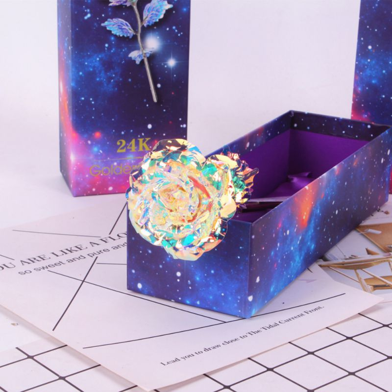 24K Gold Plated Golden Rose With Box Valentine 39 s Day Gifts Mother 39 s day Gift News in Artificial amp Dried Flowers from Home amp Garden