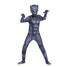 Kid Black Panther T'Challa Wakanda Cosplay Costume Halloween Zentai Bodysuit