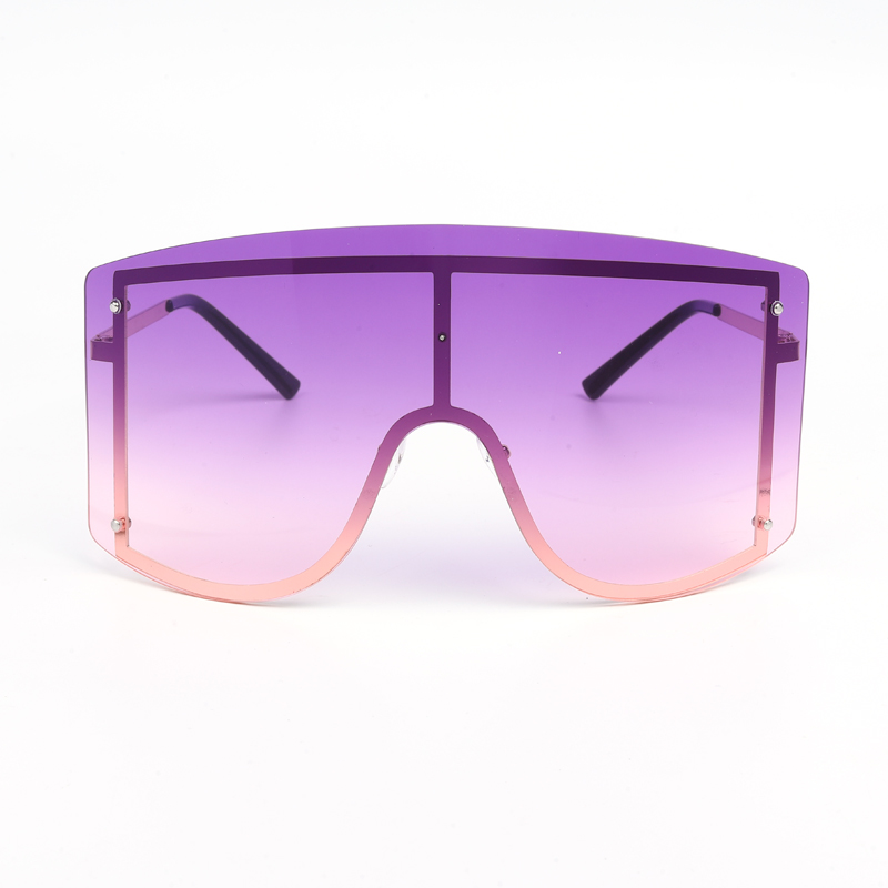 Oversized Gradient Rimless Sunglasses
