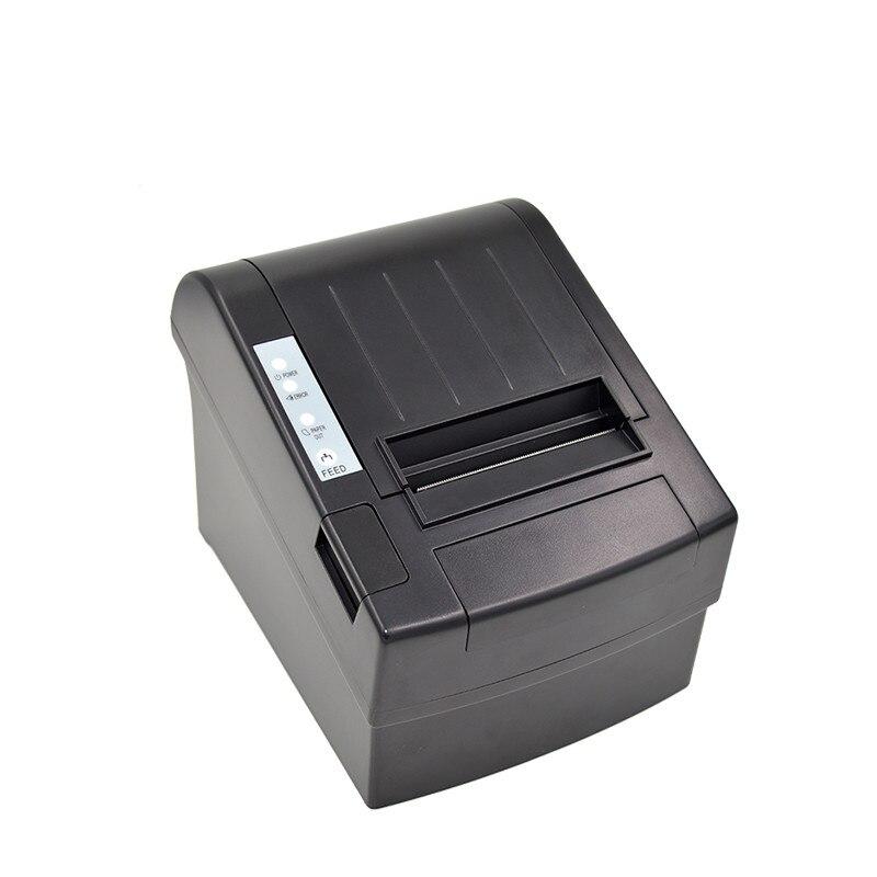 Оригинальный 80 мм pos получения Термальность Билл принтера ZJ-8220 USB + Ethernet Порты и разъёмы высокая скорость печати EU/US разъем