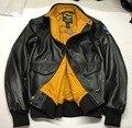 Ovejas natural G1 motociclista chaqueta masculina chaqueta de motociclista de cuero genuino de la vendimia