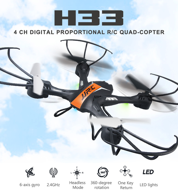 Original JJRC H33 Mini RC Drone 2.4G 4CH 6 Axis Gyro RC Quadcopter Headless Mode one Key return RC Helicopter VS H36 H37