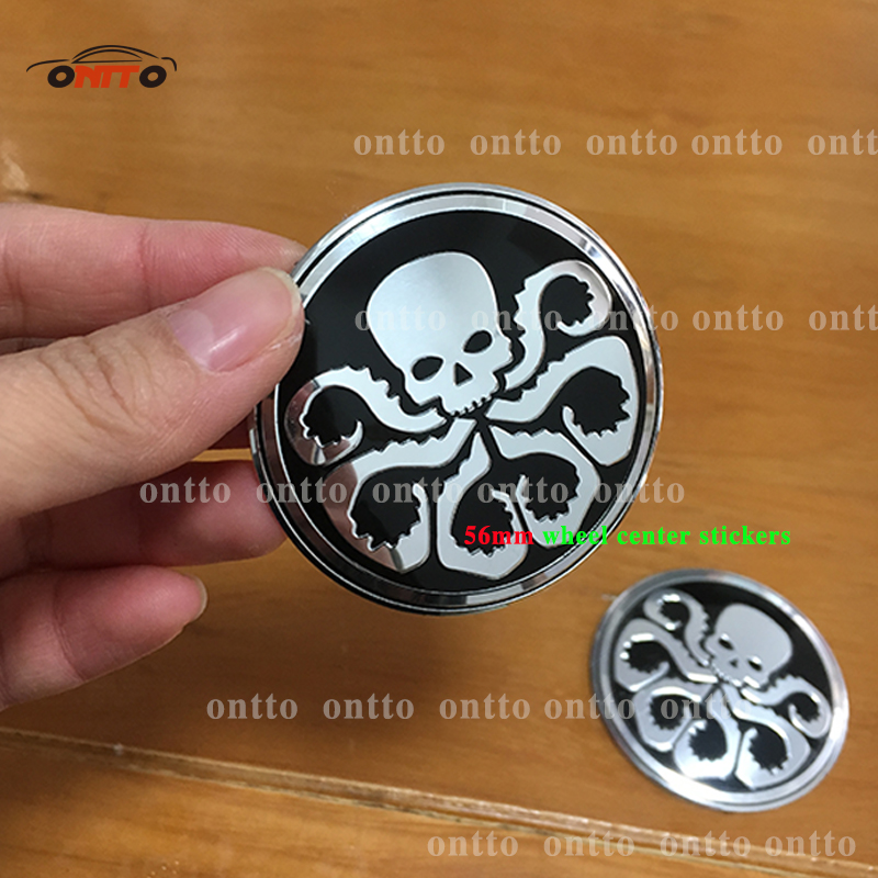 4pc black 56mm hail hydra wheel center caps emblem sticker squidward logo 3d stickers hubcap badges in emblems from automobiles motorcycles on