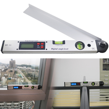 цены 400mm/16INCH Infrared digital display angle meter Electronic laser level Digital laser angle meter