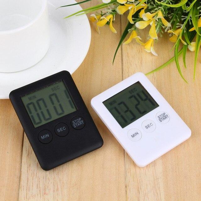2 цвета квадратный большой ЖК-цифровой кухонный таймер приготовления, таймер, будильник магнит Despertador цифровые часы настольные Temporizador