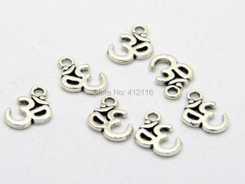 100 Sets Tibetan Silver Heart Beads Charms Pendentif pour À faire soi-même Jewelry Findings