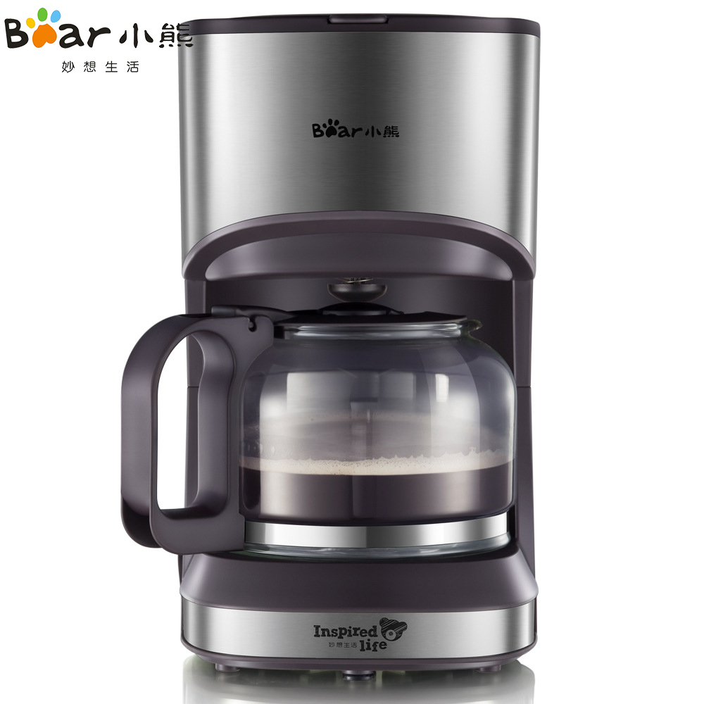 Bear Portable High-quality Automatic Electric Coffee Maker 5 Cups Coffee Machine With Water Window for home
