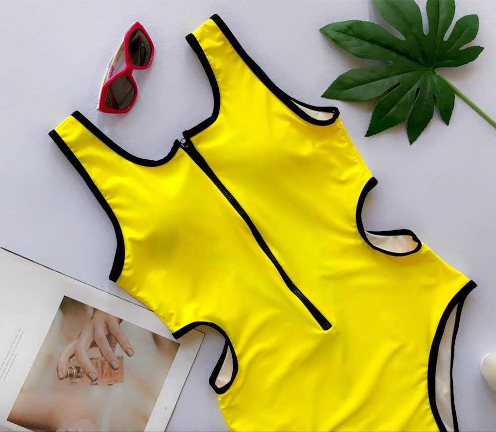 Zipper Bodysuits One-pieces Swimsuit 17